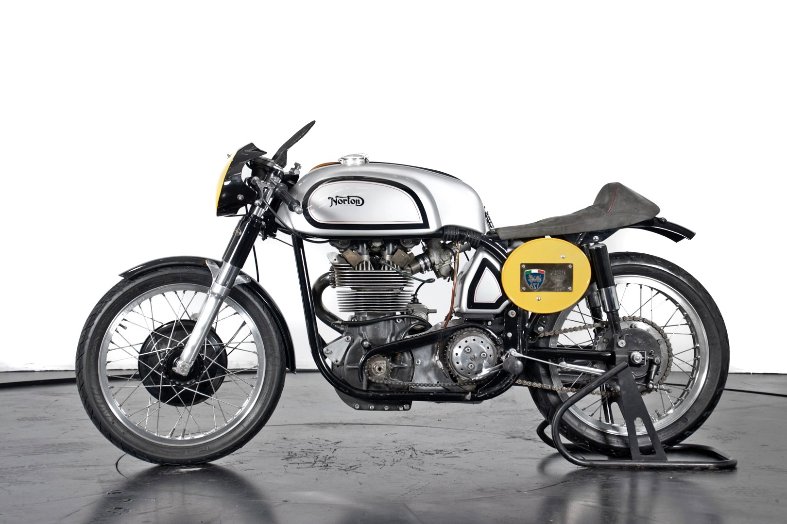 Vintage (used) motorcycles' values: 1957 Norton Manx 500, approx. $50,877. for sale