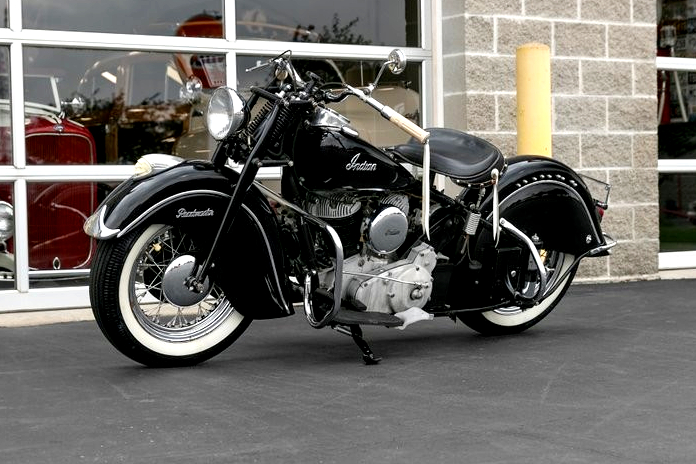 Vintage (used) motorcycles' values: 1947 Indian Chief, US$32,500 for sale