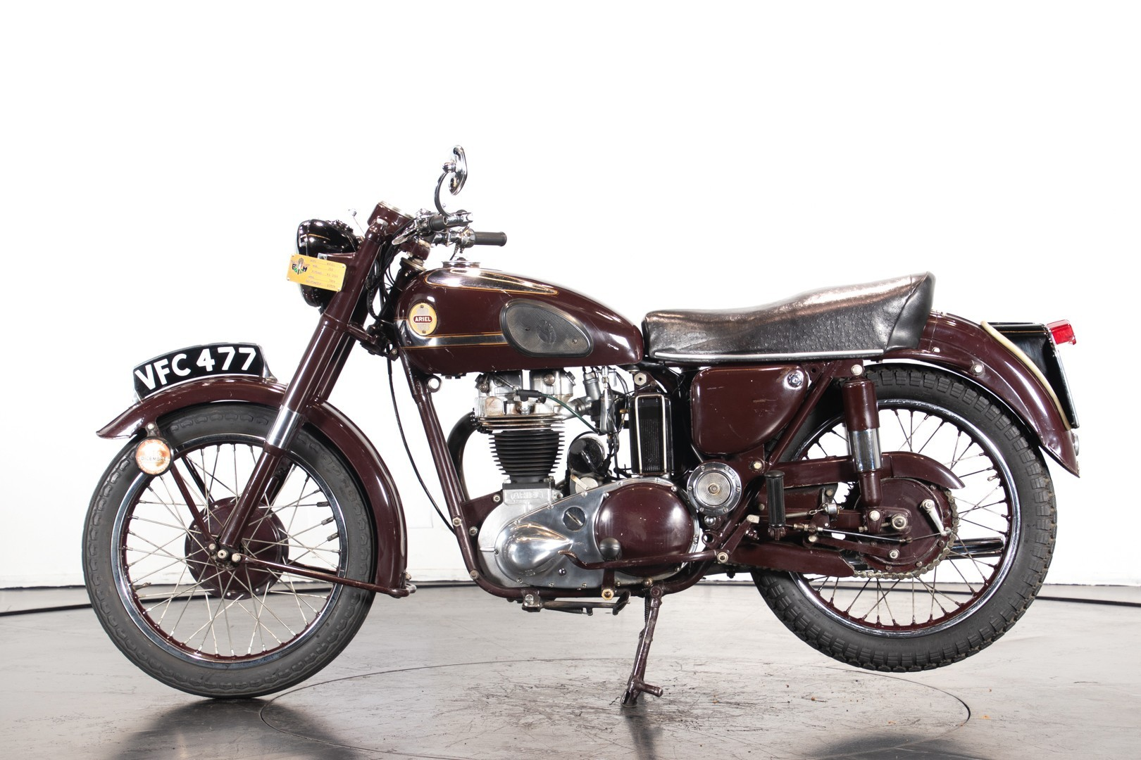 Vintage (used) motorcycles' values: Ariel 350, approx. $12,896. for sale