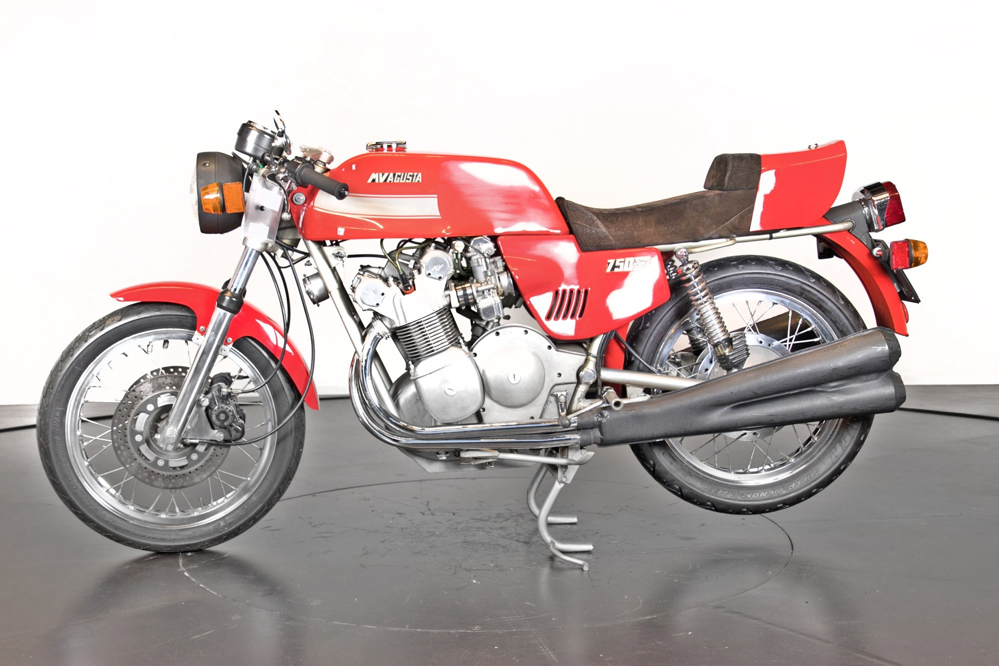 Vintage (used) motorcycles' values: Mv Agusta 750 America, approx. $112,703. for sale