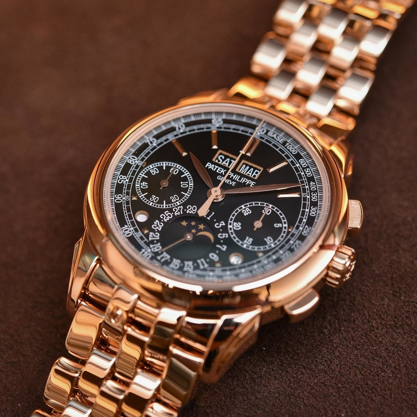 Luxury and expensive watches for men: Patek Philippe Grand Complications Chronograph, 2020.