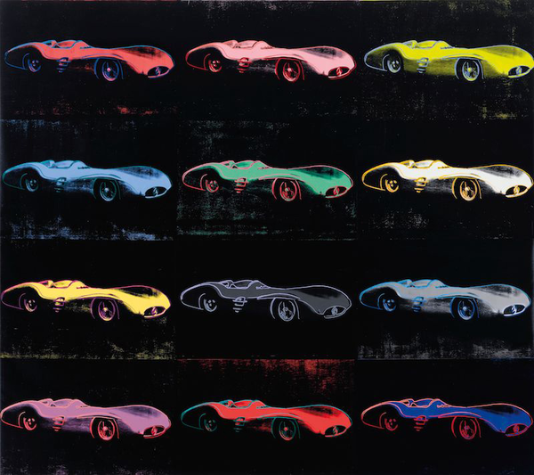 Andy Warhol's Mercedes-Benz W196 Painting for Sale at Auction. ()