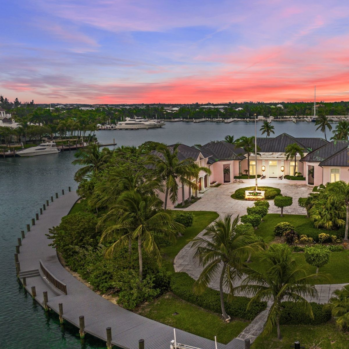 Top, most expensive gated communities: Canalfront Estate in the luxury gated community of Lyford Cay, $29,500,000