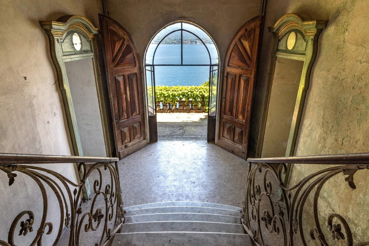 Castle-style homes: Castle-style villa on Lake Stresa, Italy (price on request).