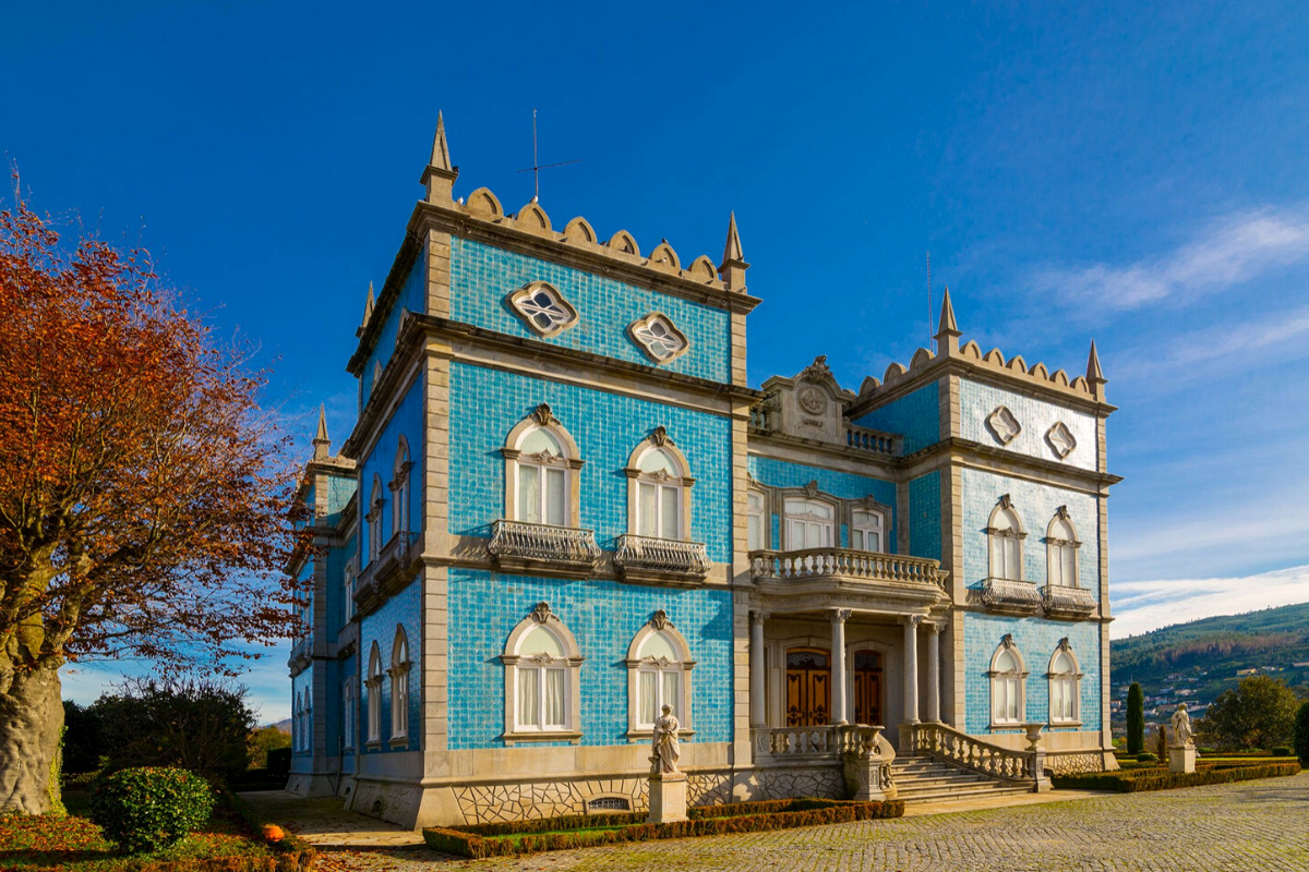 Castle-style homes: Castle with a vineyard and gardens, Póvoa de Lanhoso, Portugal (approx. US$8,176,124).