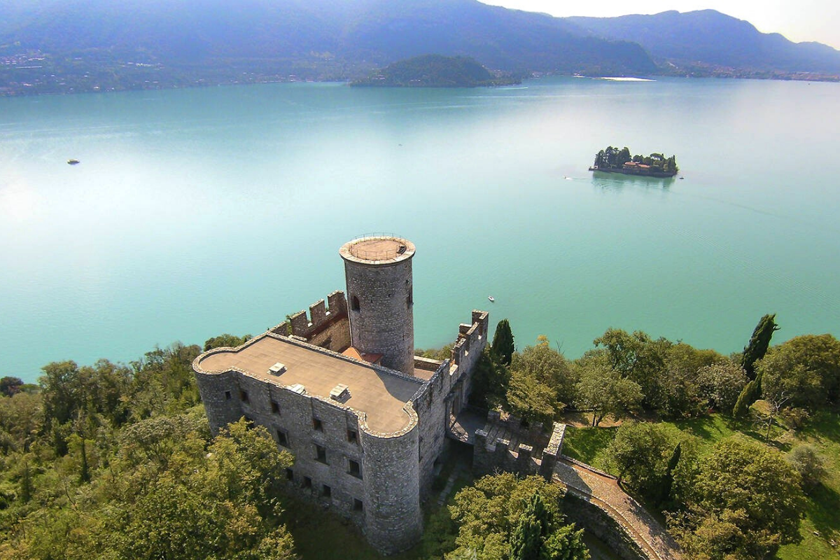 Castle-style homes: Ancient castle for sale on Lake Iseo, Italy (approx. US$2,725,374).