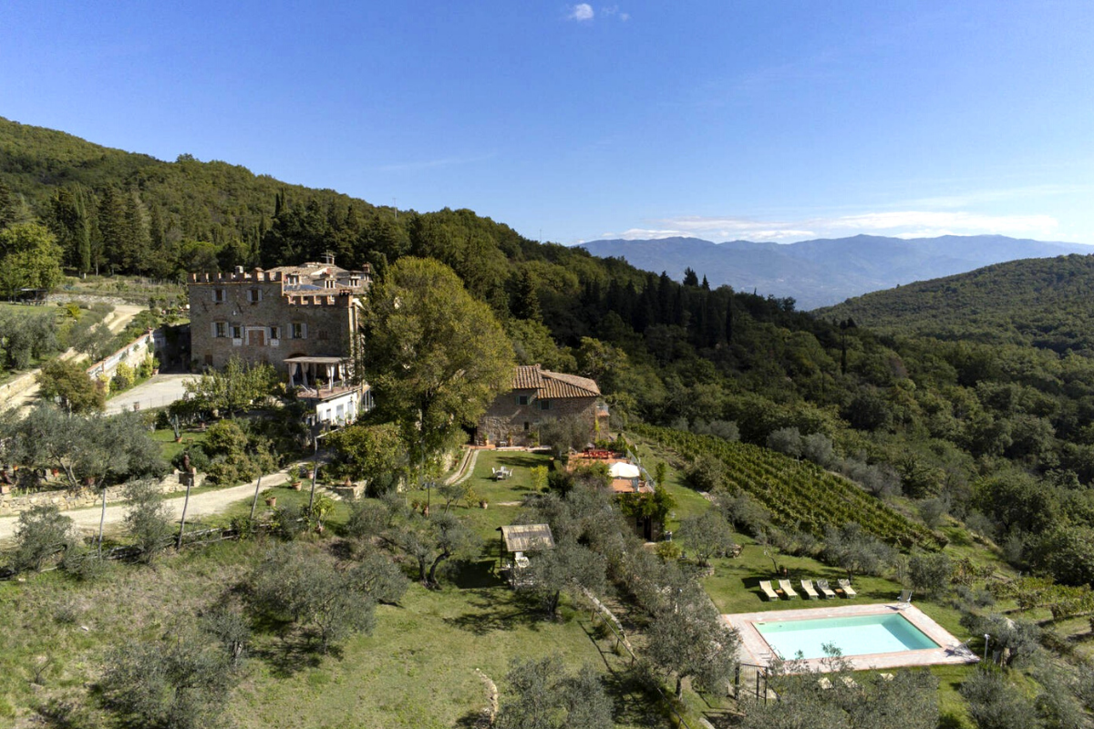 Castle-style homes: Castle in Chianti, Italy (price on request).
