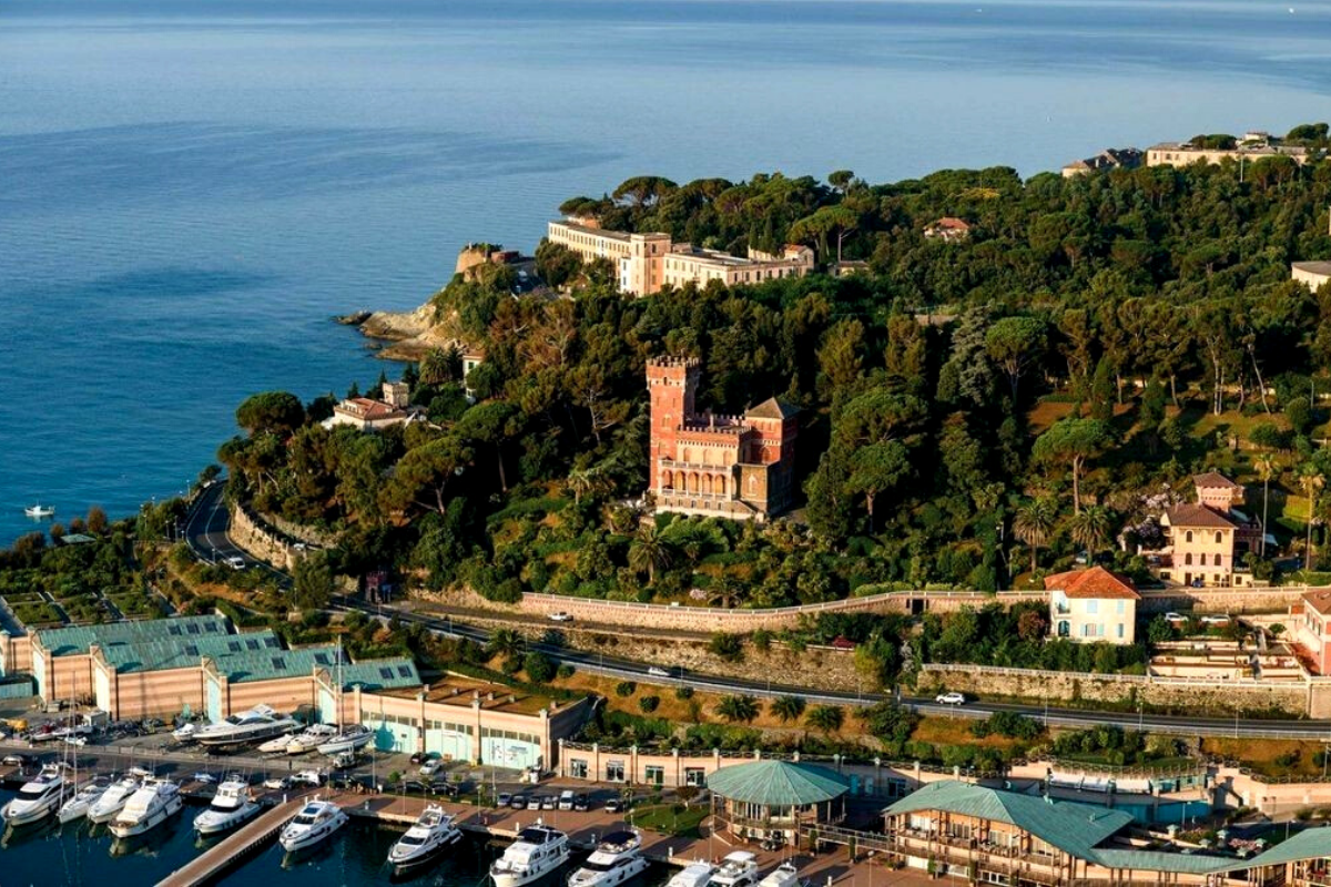 Modern day castles: The 1930 castle in Varazze, Italy, approx (US$8,000,000).
