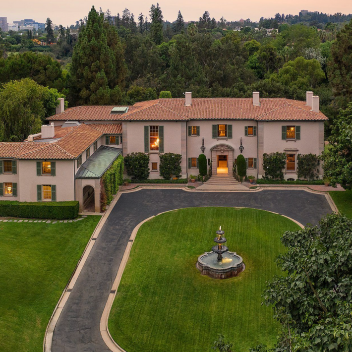 Beverly Hills estate, view from above.