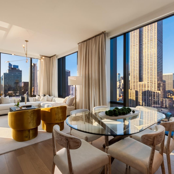 new high-end residence, a living room with floor to ceiling windows