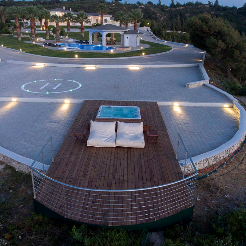 Ultimate helipad home for sale in Rhodes, South Aegean, Greece (approx. US$2,844,351).