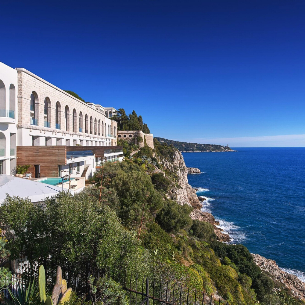 Best places to live in French Riviera: seafront apartment in Iconic Palais Maeterlinck in Nice with one of the best views in French Riviera not far from one of the best beaches in French Riviera and best authentic medieval villages and towns in French Riviera, and some of the best places to stay in French Riviera