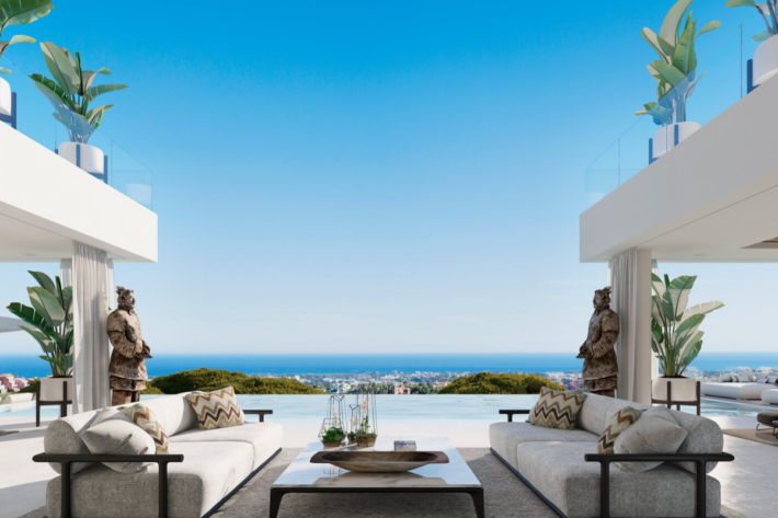 Best infinity pools in the world: one of the best infinity edge plunge pools with a pool bar located in a villa in Alcuzcuz, the concentration of the best infinity pools with a view.