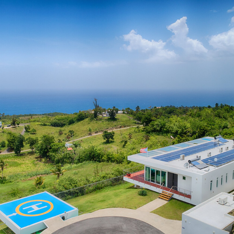 House with a big, personal helicopter pad located on the northern hillsides of Quebradillas, Puerto Rico (Iron Man area).