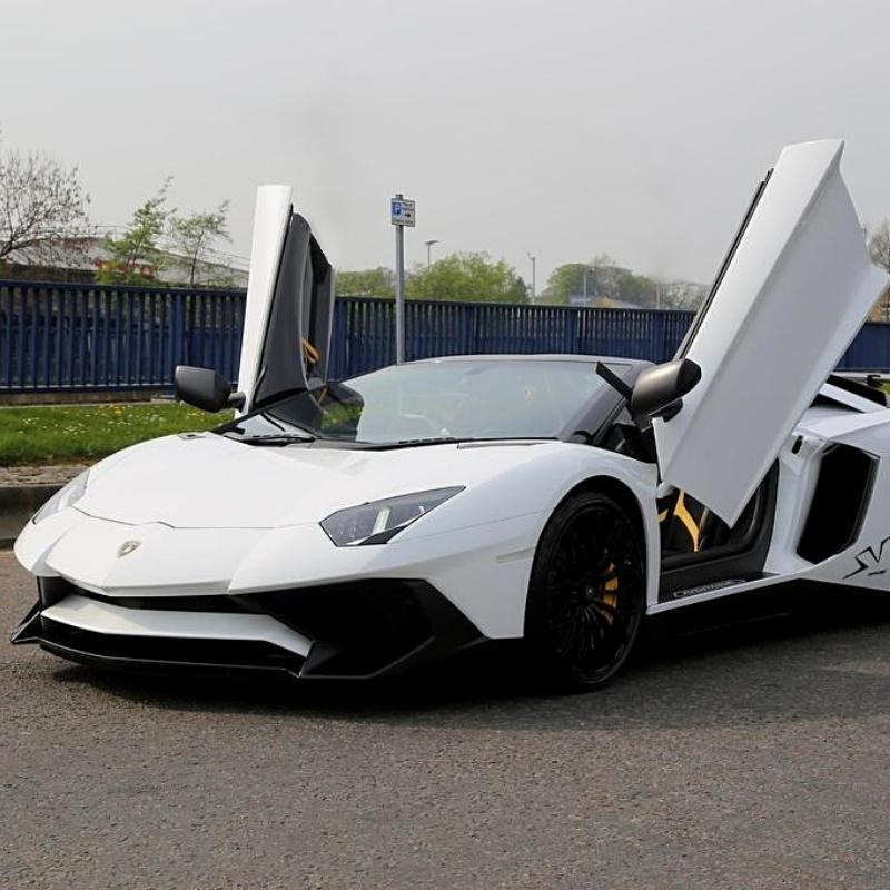 Best Lamborghini colors: Lamborghini Aventador SV, white