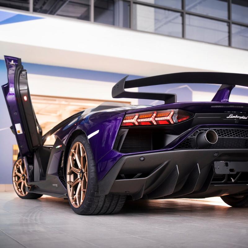 Best Lamborghini colors: 2020 Lamborghini Aventador (Moscow, Russia), purple