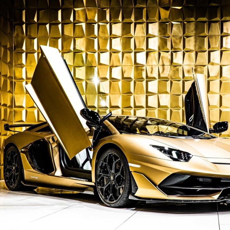 Best Lamborghini colors: 2020 Lamborghini Aventador SVJ, gold