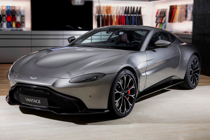 How much is an Aston Martin Vantage in India and Russia: Aston Martin Vantage V8 Tungsten Silver, approx. 6,174, Moscow.
