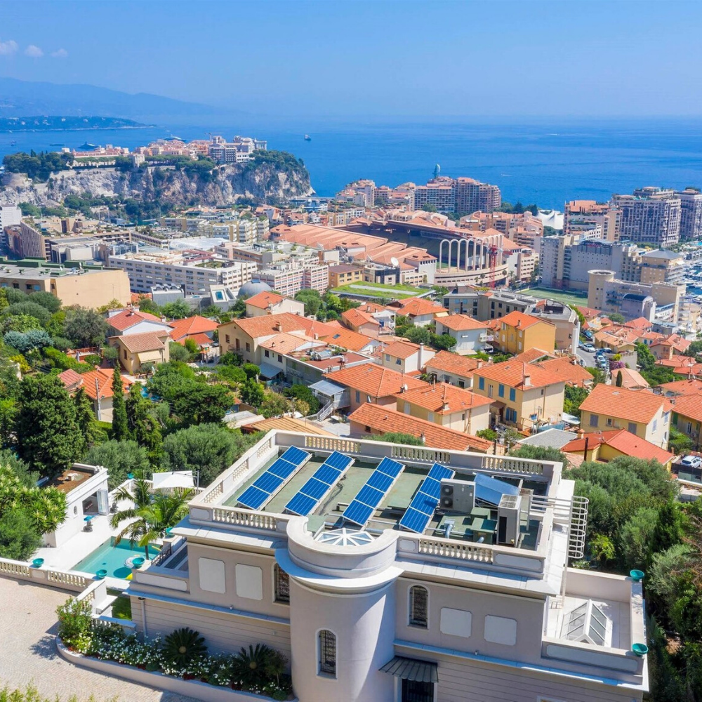 Best places to live in French Riviera: seafront villa in Cap d'Ail at the entrance to the Principality of Monaco, athough not far from Nice, providing one of the best views in French Riviera, and not far from one of the best beaches in French Riviera, and best authentic medieval villages and towns in French Riviera, and some of the best places to stay in French Riviera