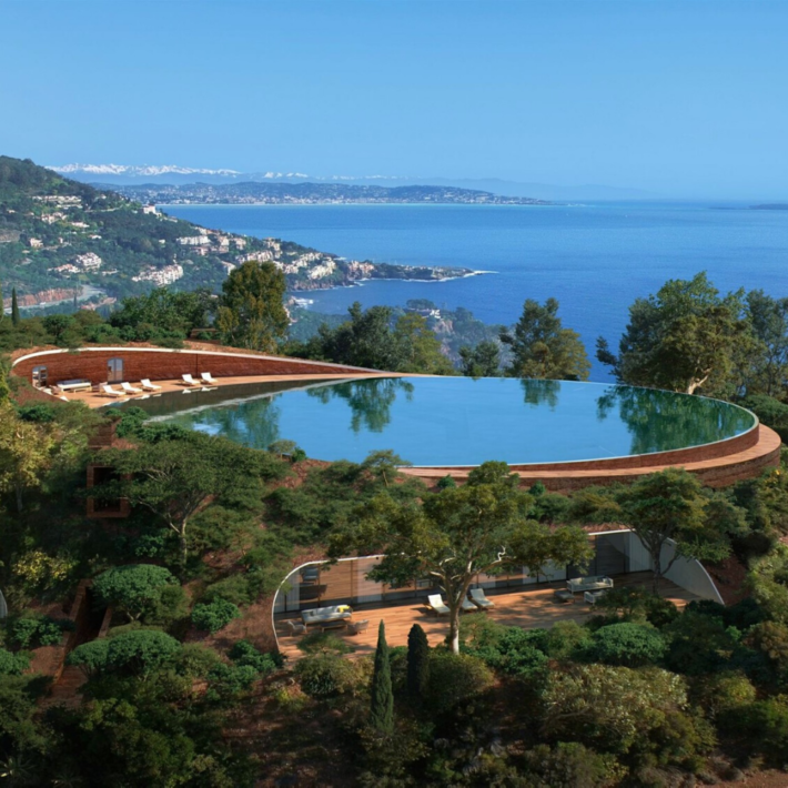 Best places to live in French Riviera: the villa in Theoule-Sur-Mer with one of the best views in French Riviera not far from one of the best beaches in French Riviera and best authentic villages and towns in French Riviera, and some of the best places to stay in French Riviera