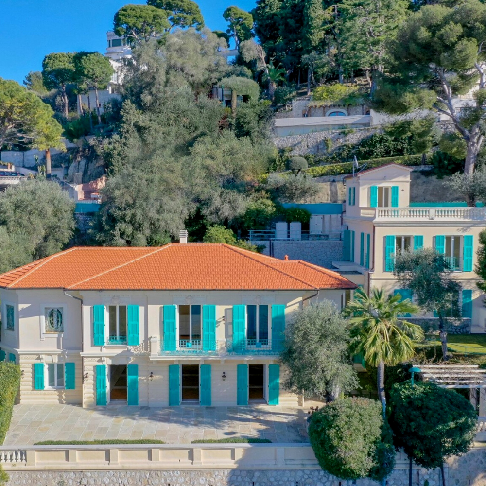 Best places to live in French Riviera: Belle-Époque villa in Cap-Ferrat with one of the best views in French Riviera not far from one of the best beaches in French Riviera and best authentic villages and towns in French Riviera, and some of the best places to stay in French Riviera