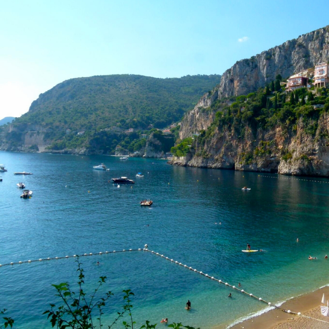 Plage La Mala is one of the best beaches in French Riviera in Cap d'Ail, one of best places to live in French Riviera, providing one of the best views in French Riviera, and not far from the best authentic medieval villages and towns in French Riviera, overlooking Monaco