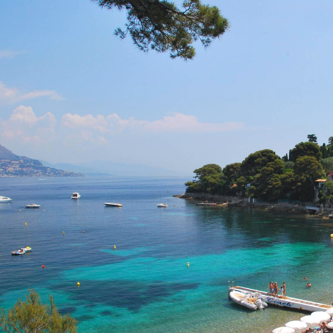 Plage de la Garoupe is one of the best beaches in French Riviera, within Cap d'Antibes, one of best places to live in French Riviera, providing one of the best views in French Riviera, and not far from the best authentic medieval villages and towns in French Riviera