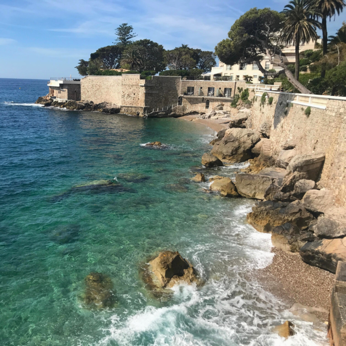 Criques du Cap Estel is one of the best beaches in French Riviera in Eze, one of best places to live in French Riviera, providing one of the best views in French Riviera, and not far from the best authentic medieval villages and towns in French Riviera, overlooking Monaco