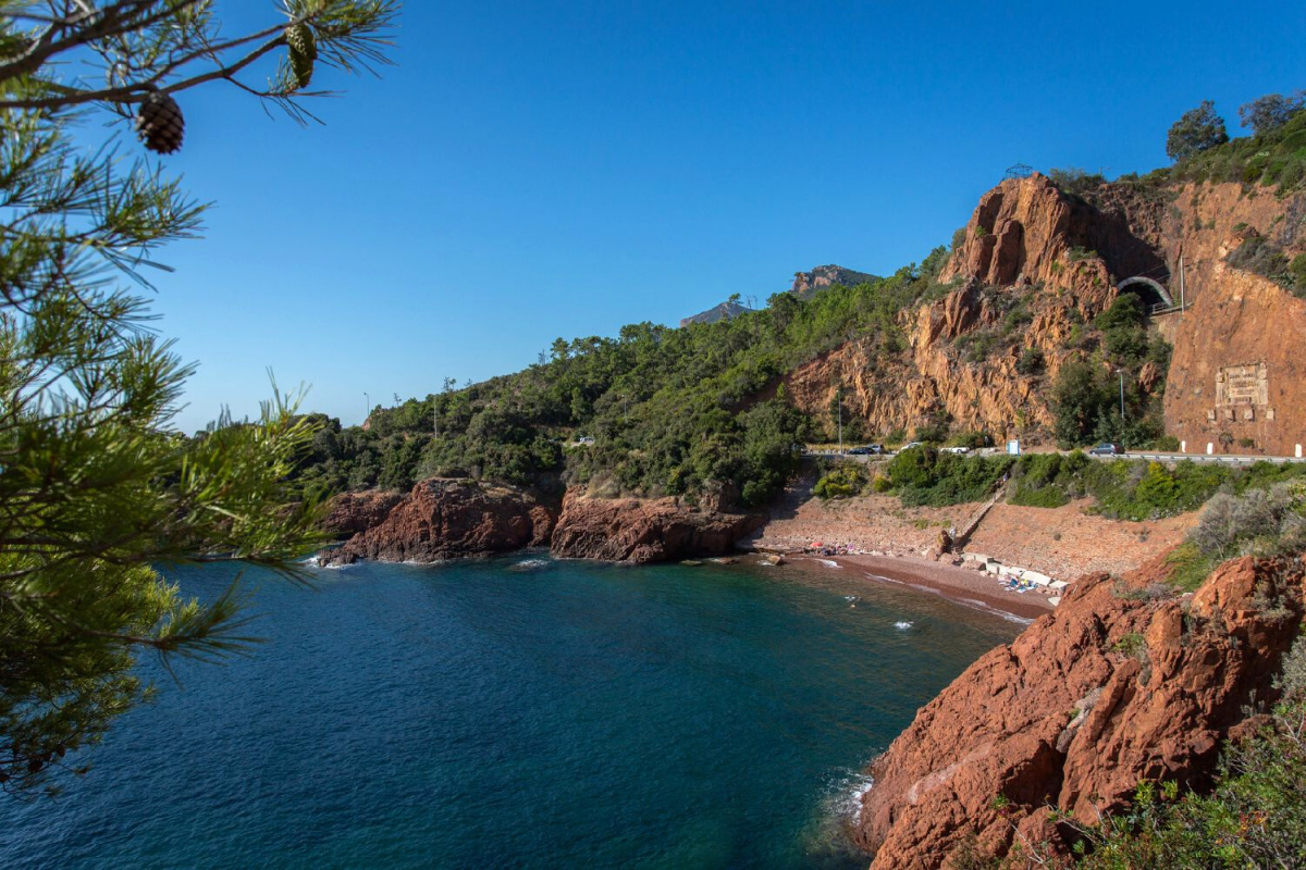 Plage d'Abel Ballif is one of the best beaches in French Riviera, within Théoule-sur-Mer, one of best places to live in French Riviera, providing one of the best views in French Riviera, and not far from the best authentic medieval villages and towns in French Riviera