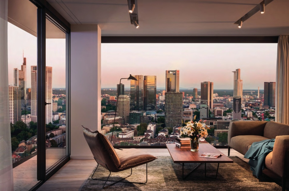View from the top: Step inside the most exclusive penthouse in Frankfurt, now for sale