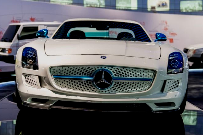 Merc SLS Stanley R Harris Electric Supercars Image Courtesy of Mercedes