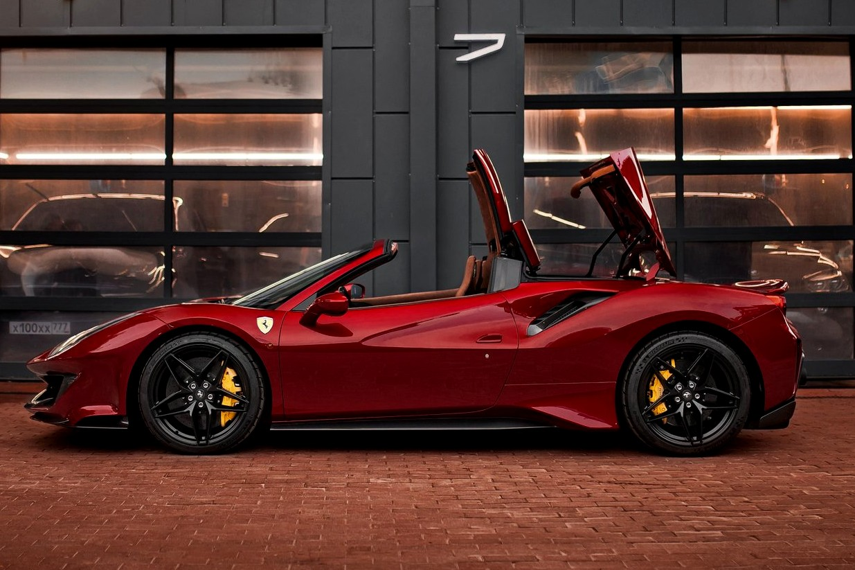 Best exotic cars garages:2020 Ferrari 488 Pista Spider, Moscow, Russia, price on request.