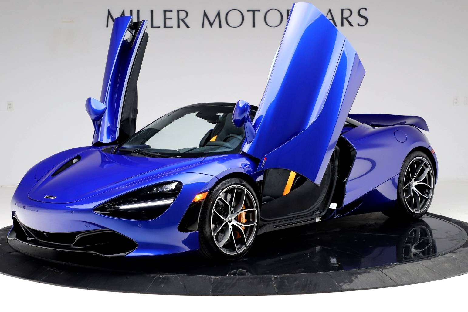 Best insurance company for exotic cars: 2020 McLaren 720S Spider MSO Burton Blue, Greenwich, CT, USA, $364,090.
