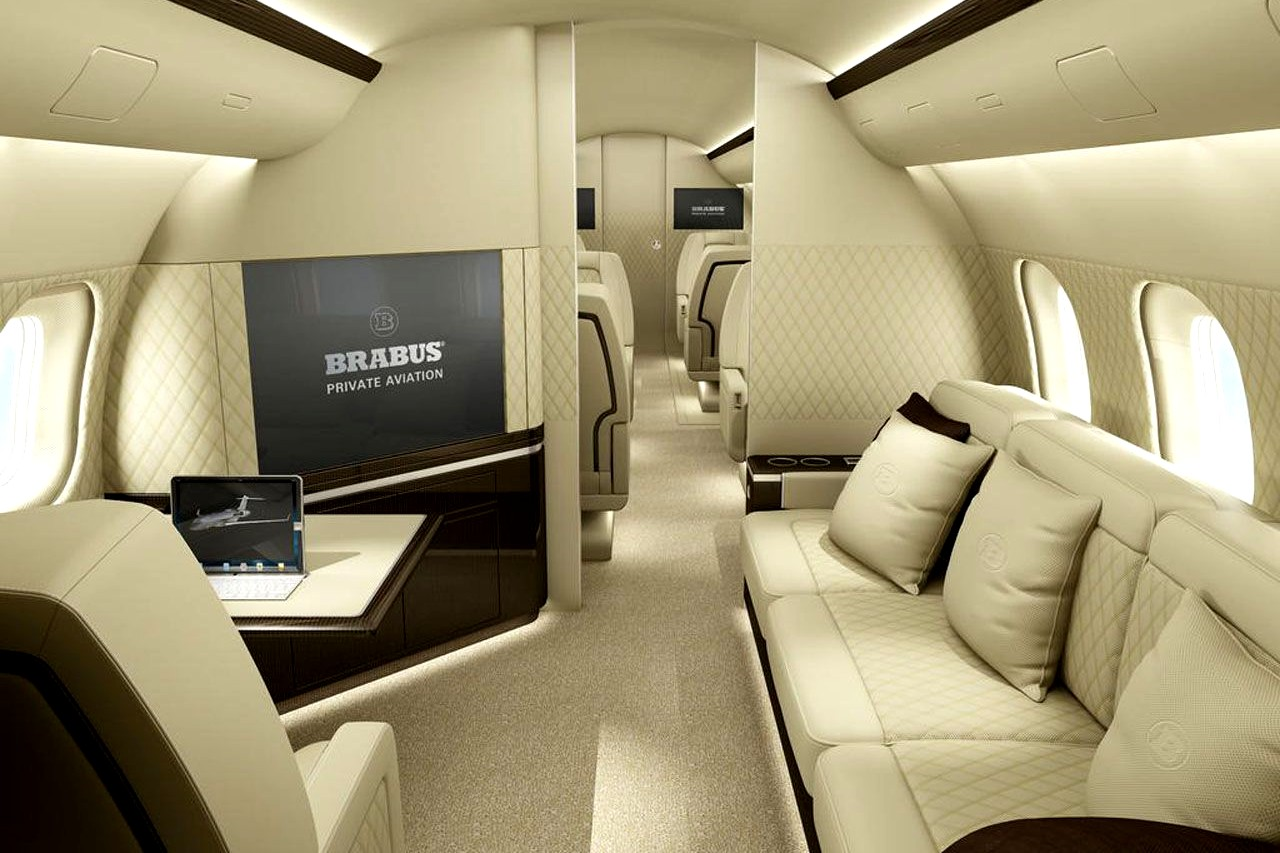 Inside A380 private jet with twin bed bedroom and master bedroom