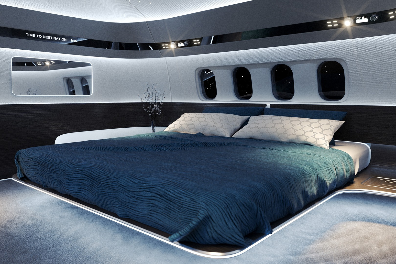 Uber-luxury for ultra-long flights: Inside the best private jet bedrooms ()