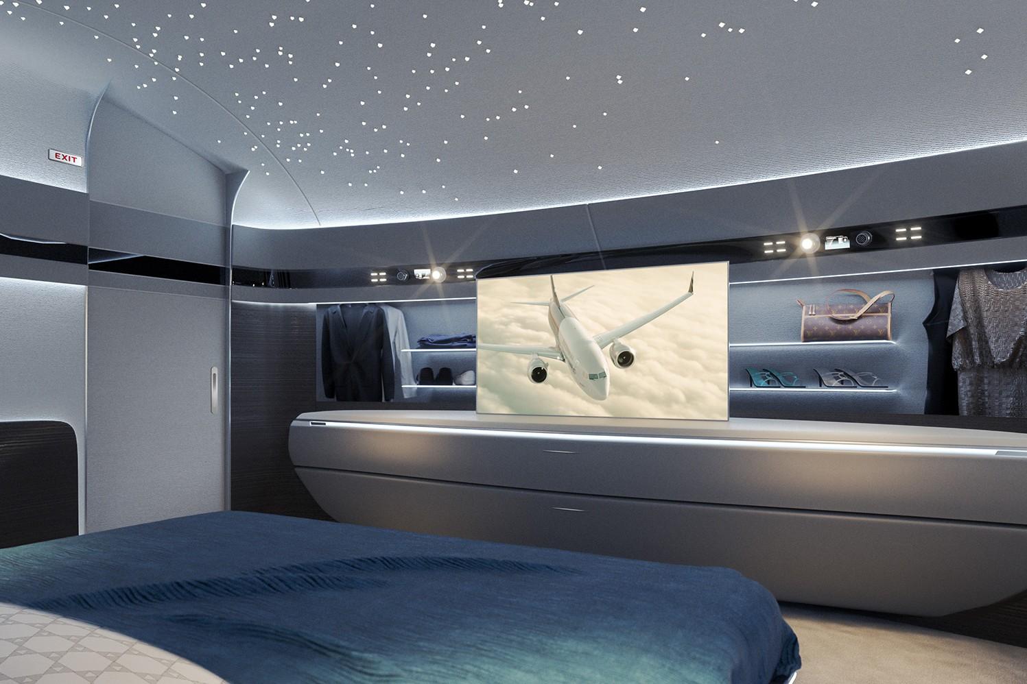 Luxury private jet interiors: top bedrooms in 2020-2021