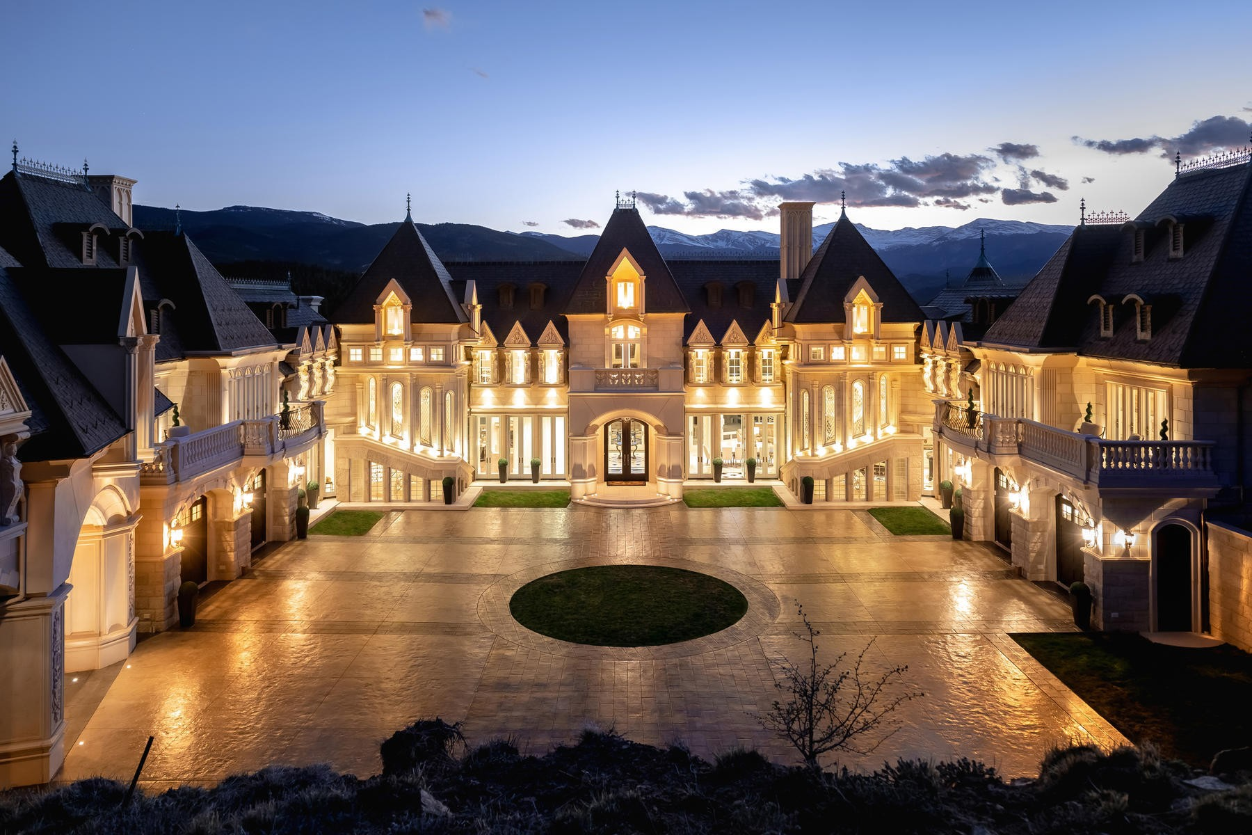 The number one, coolest luxury mansion in the world: castle in the woods