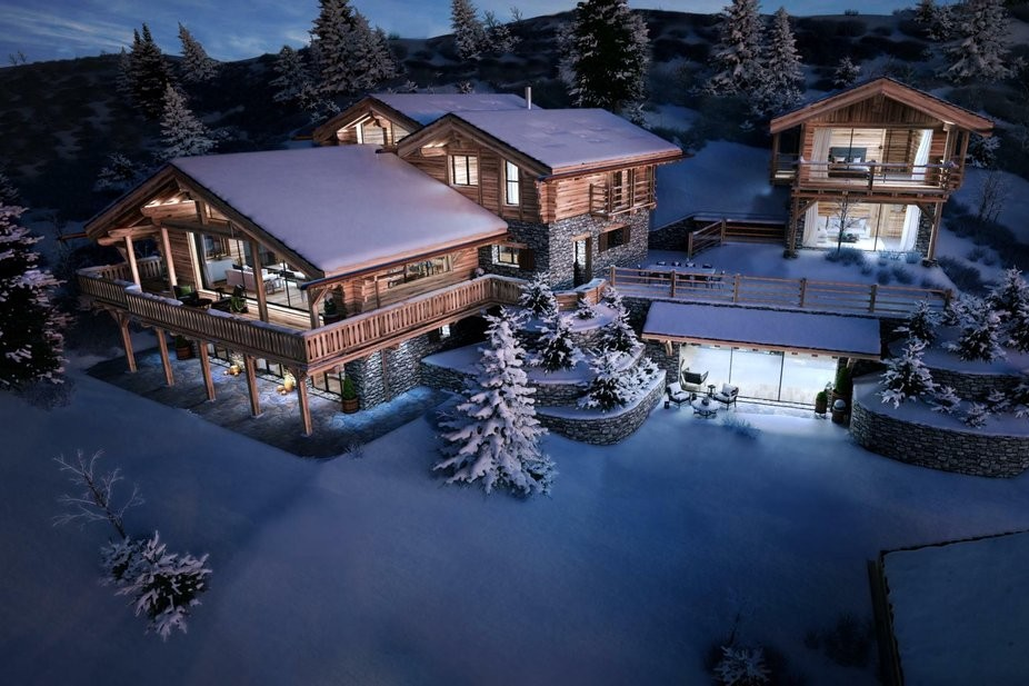 Luxury mountain home with saunas: rentals in North Carolina, family mountain chalets Post Alpina