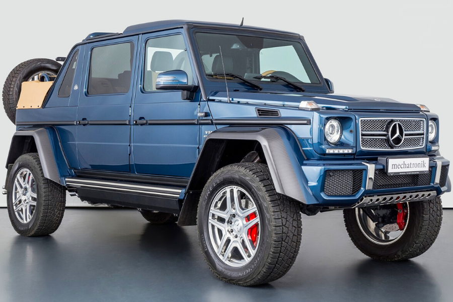 What is the most expensive Mercedes class? Convertibles, sports cars and trucks.