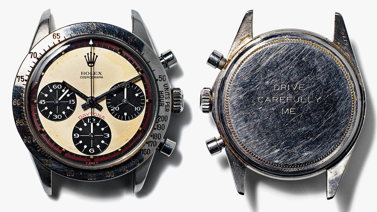 Paul Newman's Rolex Daytona model: price and reference number.