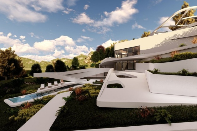 Futuristic mansions featured in Arkfinity: futuristic green house design concepts