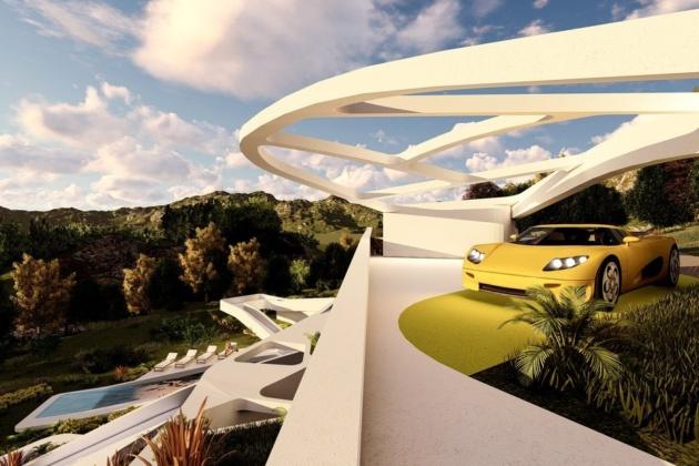 Modern futuristic mansions in Minecraft and Bloxburg: tutorial