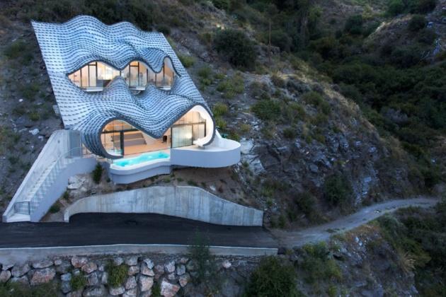 Futuristic dream mansions and fantasy castles
