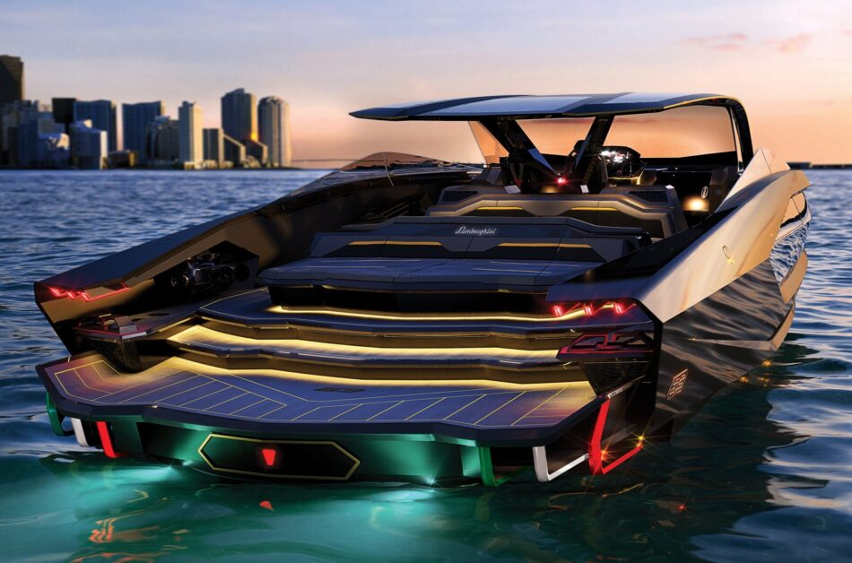 The Yacht Inspired by a Supercar: One of the first Lamborghini boats is up for sale