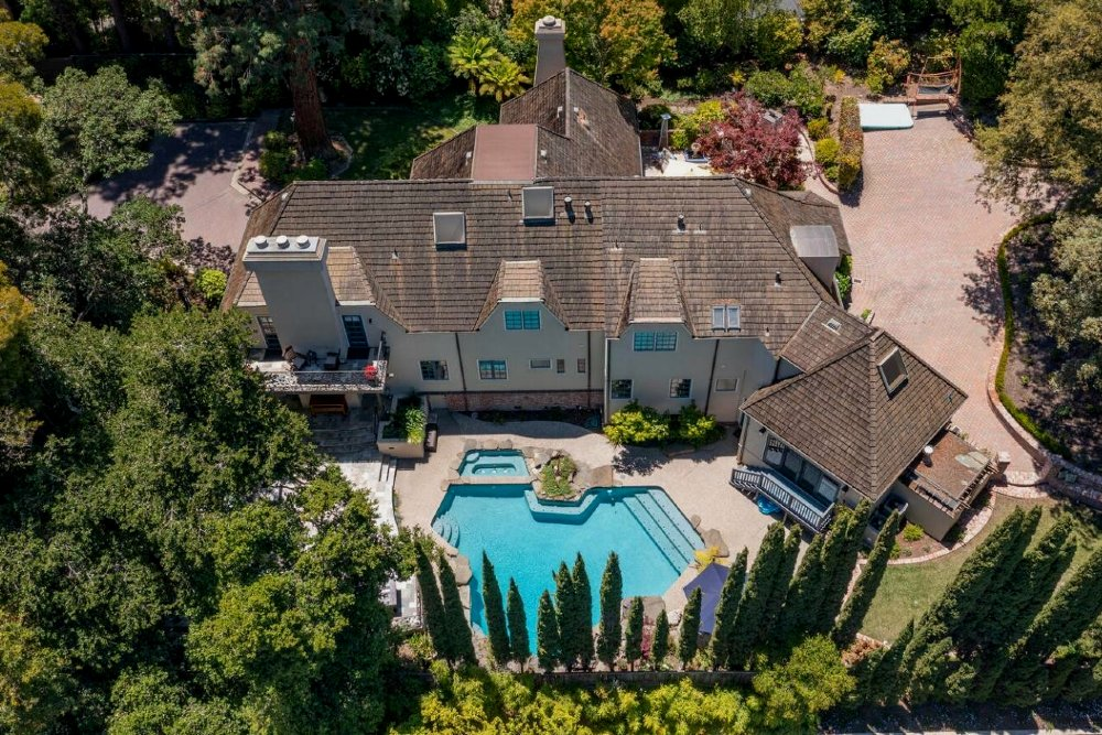 San Francisco mansions for sale: one of the most expensive houses in Bay Area, 1820 Brookvale Rd, Hillsborough, CA 94010