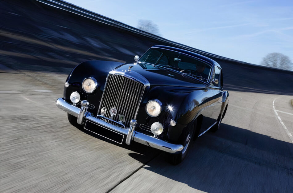 Collectible classic Bentley with original details put up for sale in Paris, France